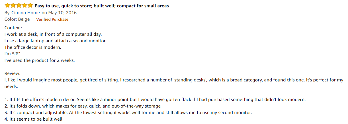 Avantree Table Amazon Review by Customer Three