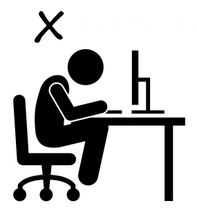 bad body posture for computer work