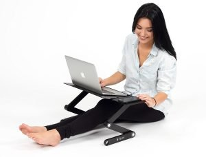 Executive Office Solutions Laptop Stand with Woman Sitting
