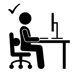 correct body posture for computer work