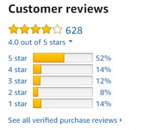 Tabletote Amazon Stars Rating