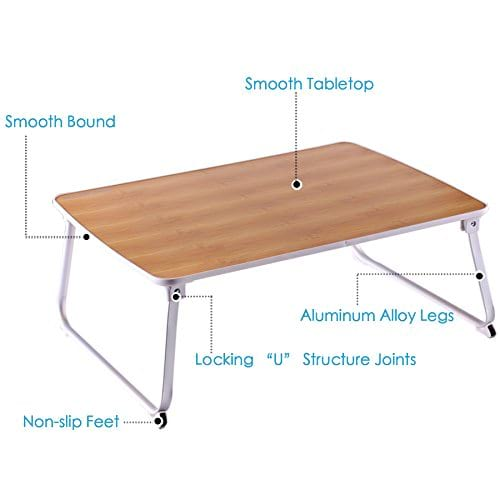 Superjare Laptop Bed Table Features