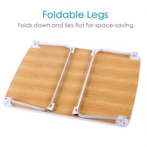 Superjare Laptop Bed Table With Foldable Legs