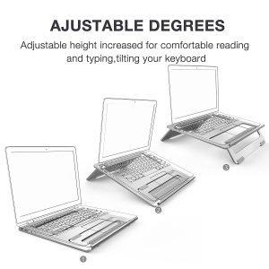 Vogek Foldable Laptop Stand Adjustable Levels