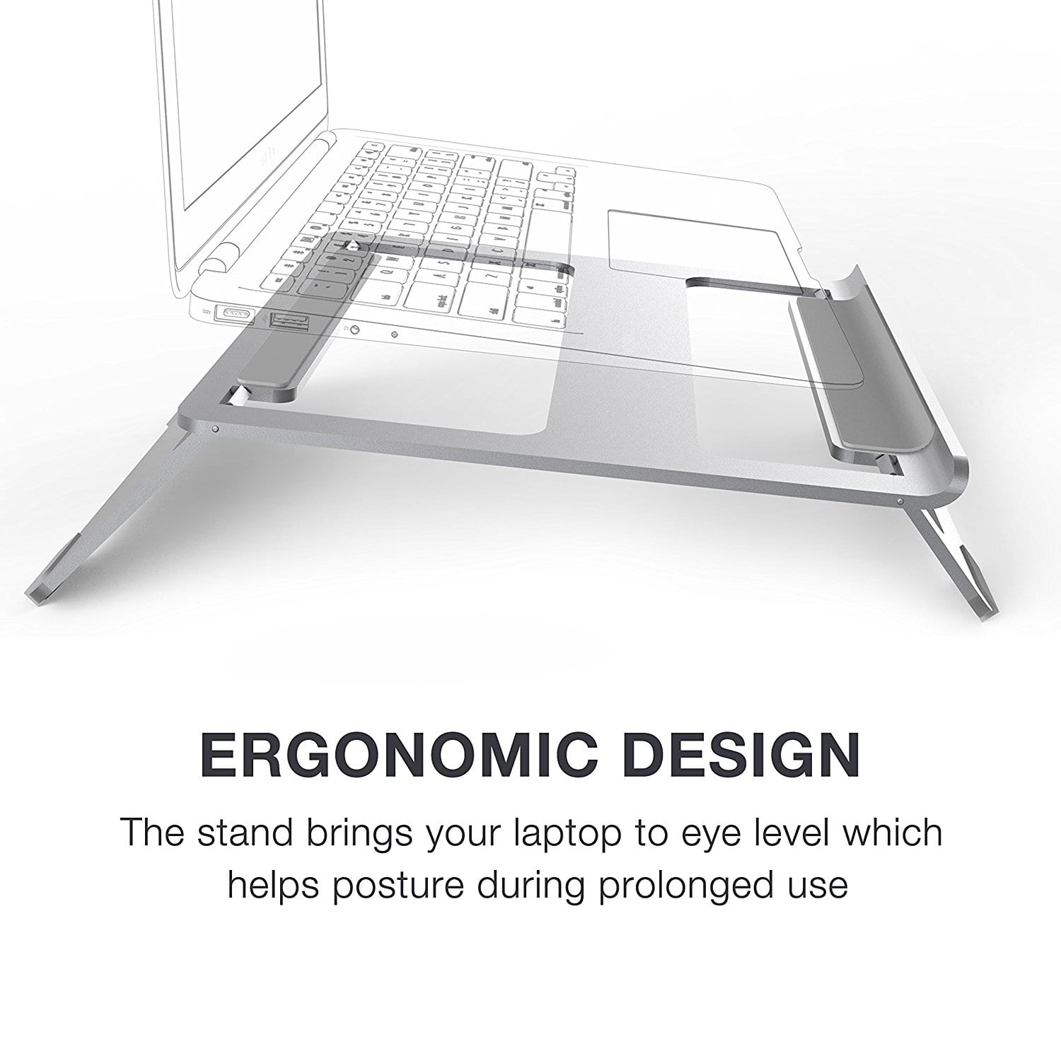 Vogek Laptop Stand Ergonomic Design