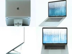Previewing the MAJEXTAND on four laptops